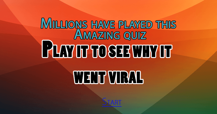 Wanna play the quiz everyone played?