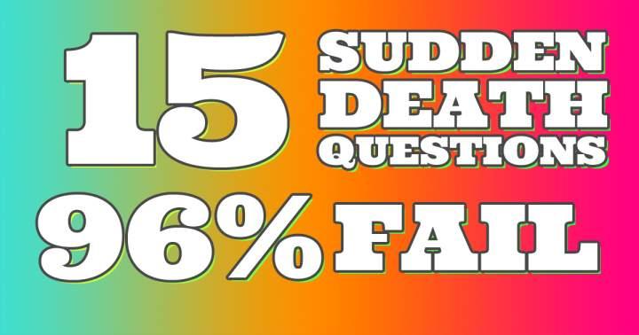 Mixed Sudden Death Quiz