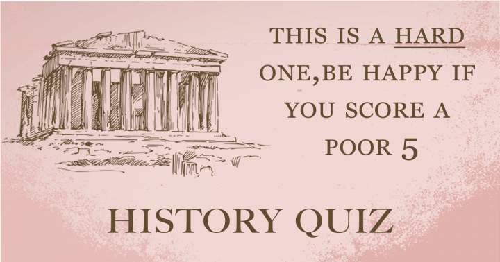 HARD History Quiz